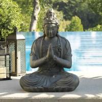 Meditating Garden Buddha Statue