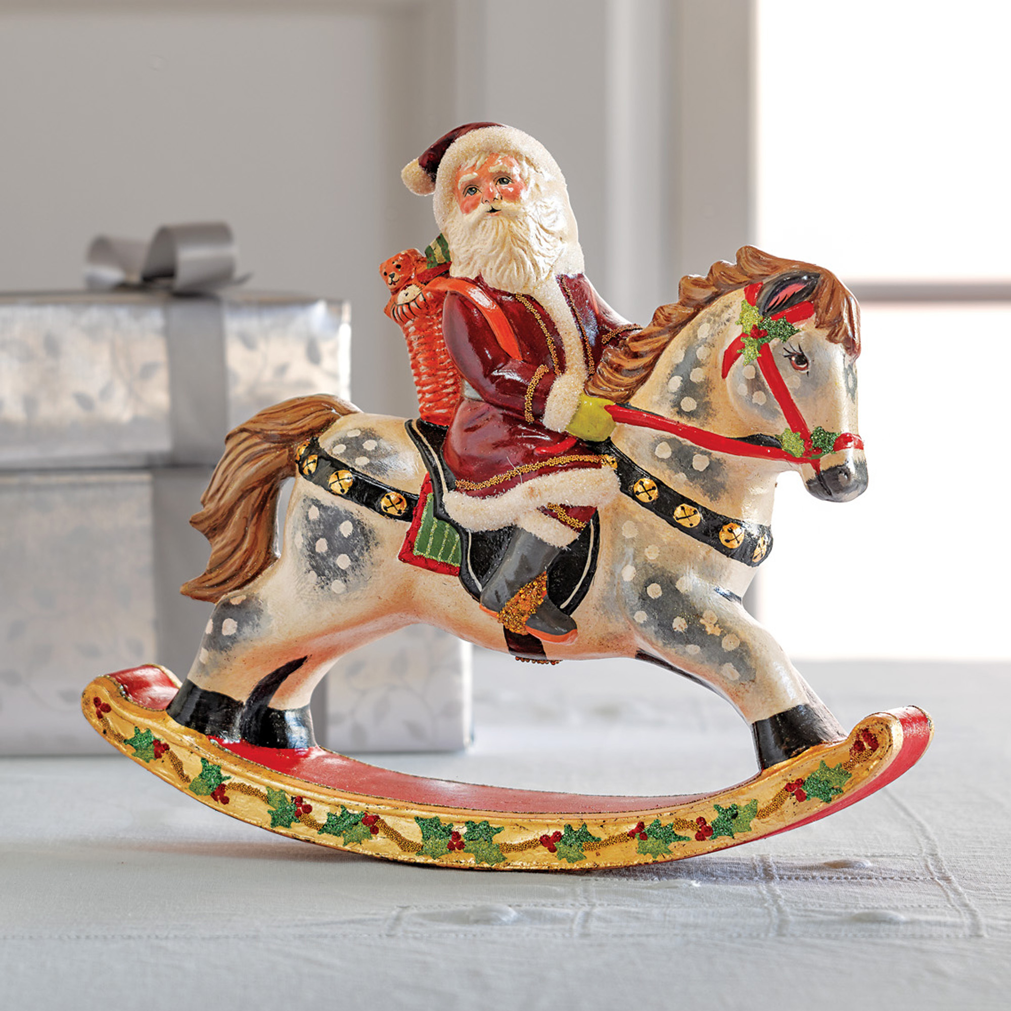 Vaillancourt Rocking Horse Santa Gumps