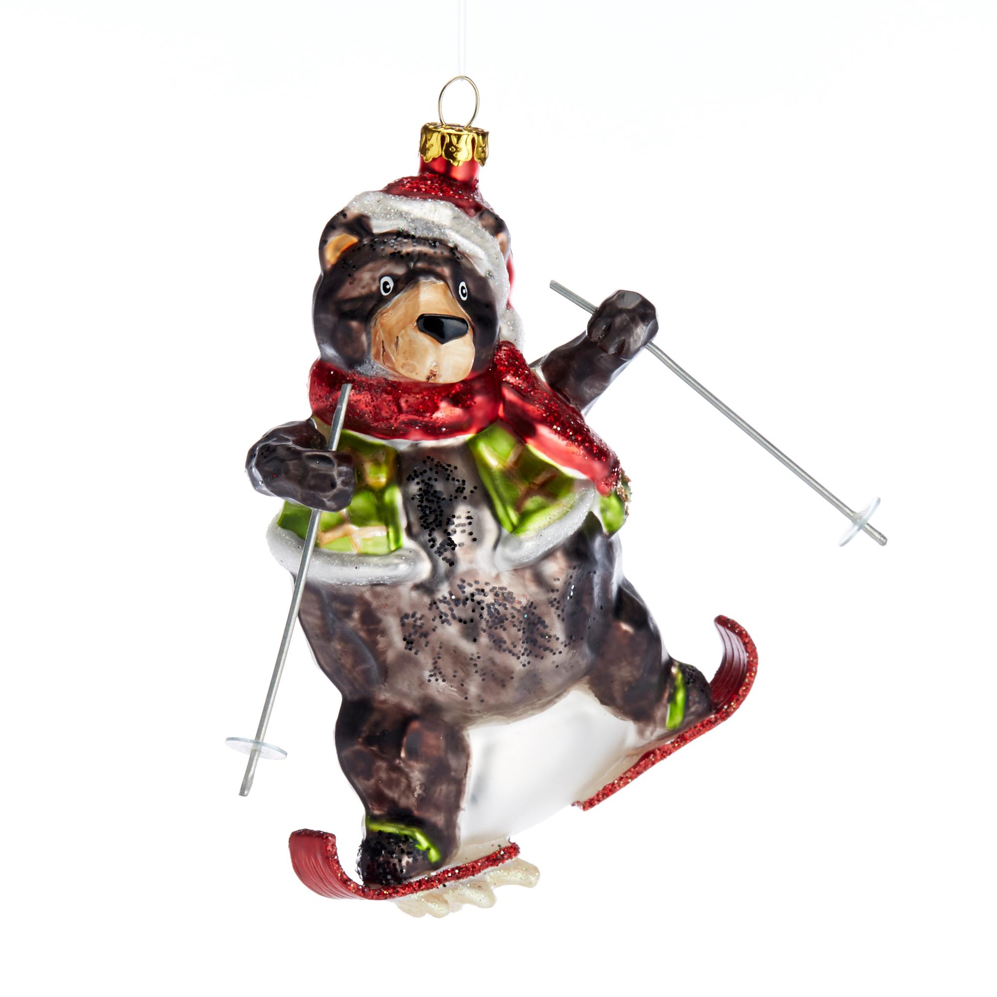 Snow Follies Skiing Bear Christmas Ornament Gump'