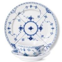 Royal Copenhagen Blue Fluted Half Lace Dinnerware | Gump's