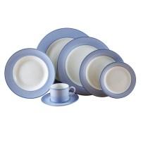 Pickard ColorSheen Duet Blue Dinnerware, Ultra White | Gump's