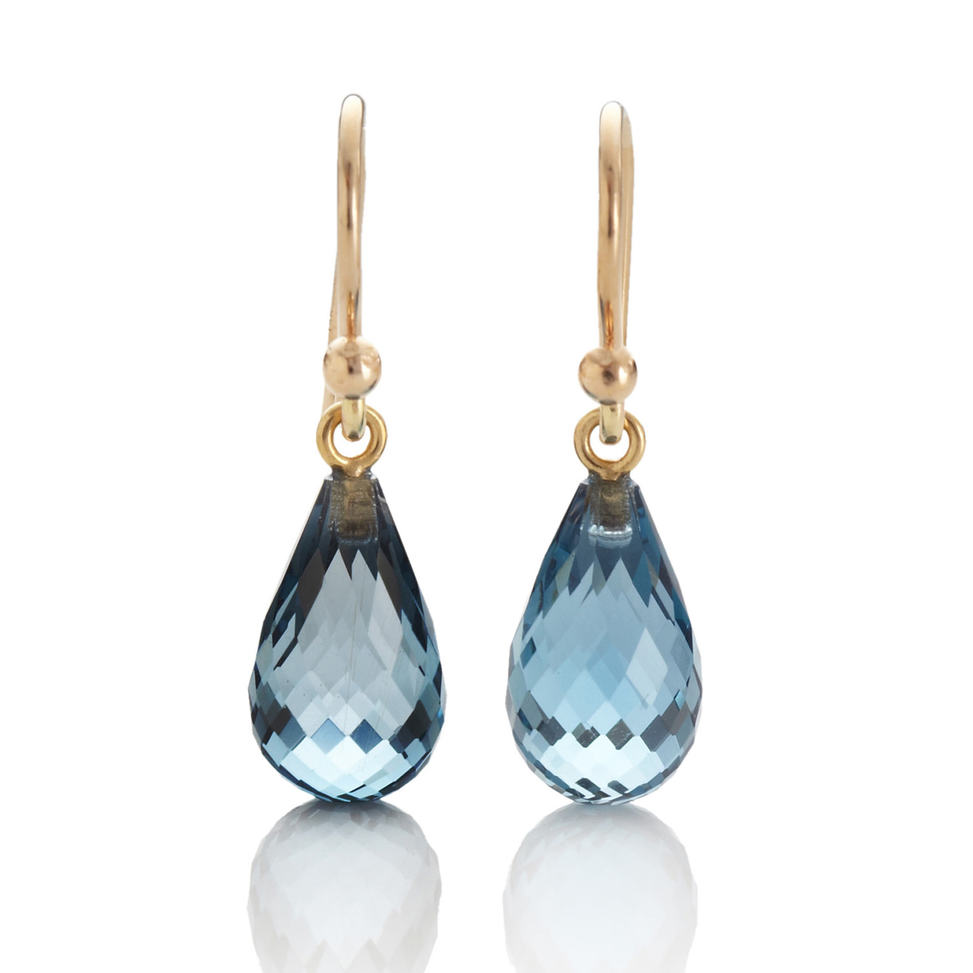 Gump's Blue Topaz Briolette Earrings