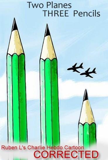 2 planes 3 pencils