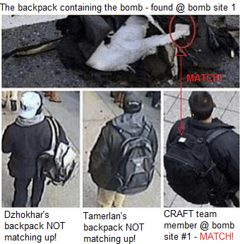 Tsarnaev backpacks don't match up!
