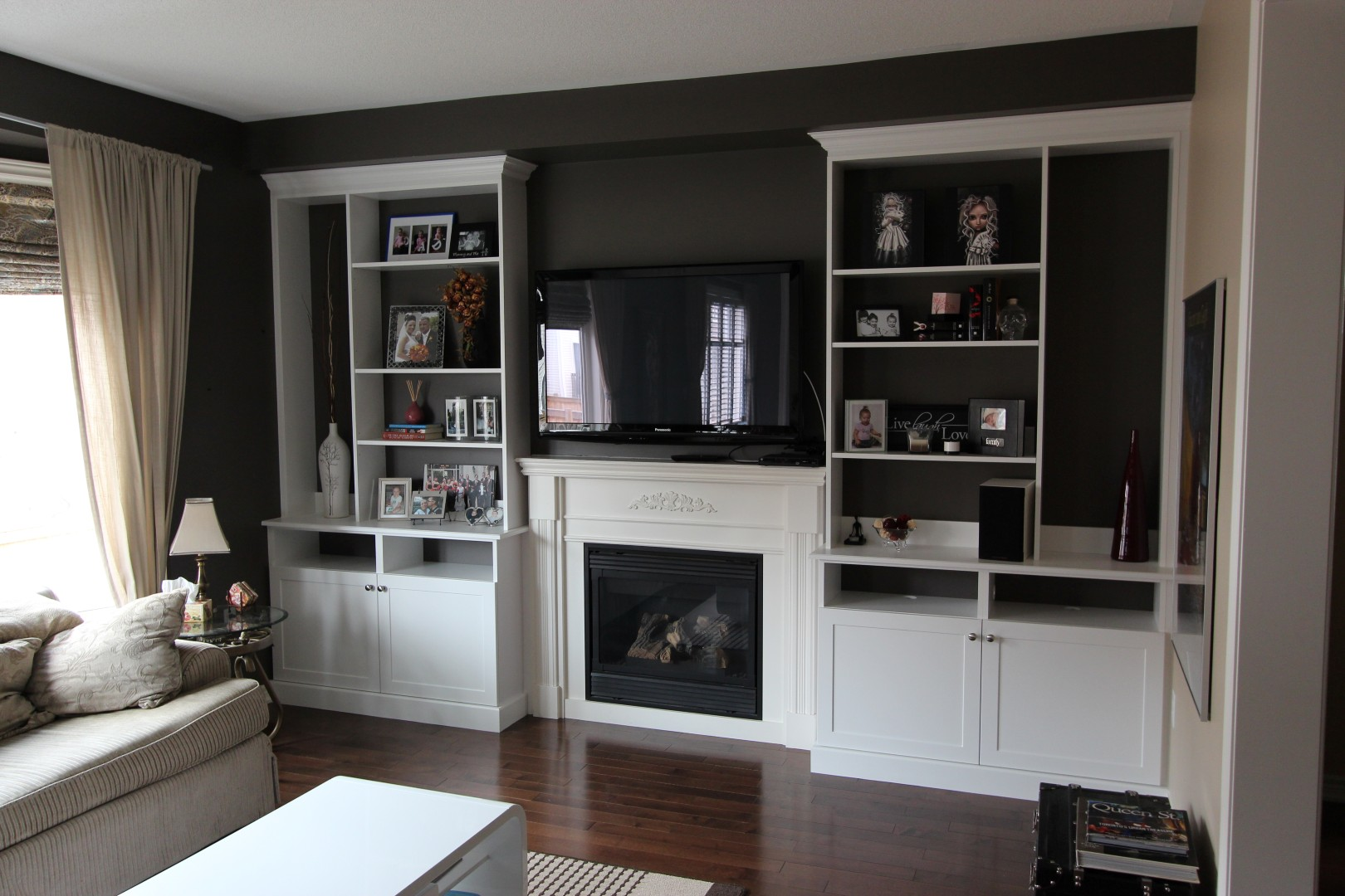 Builtin Fireplace  Entertainment Units  Gum Tree Cabinets