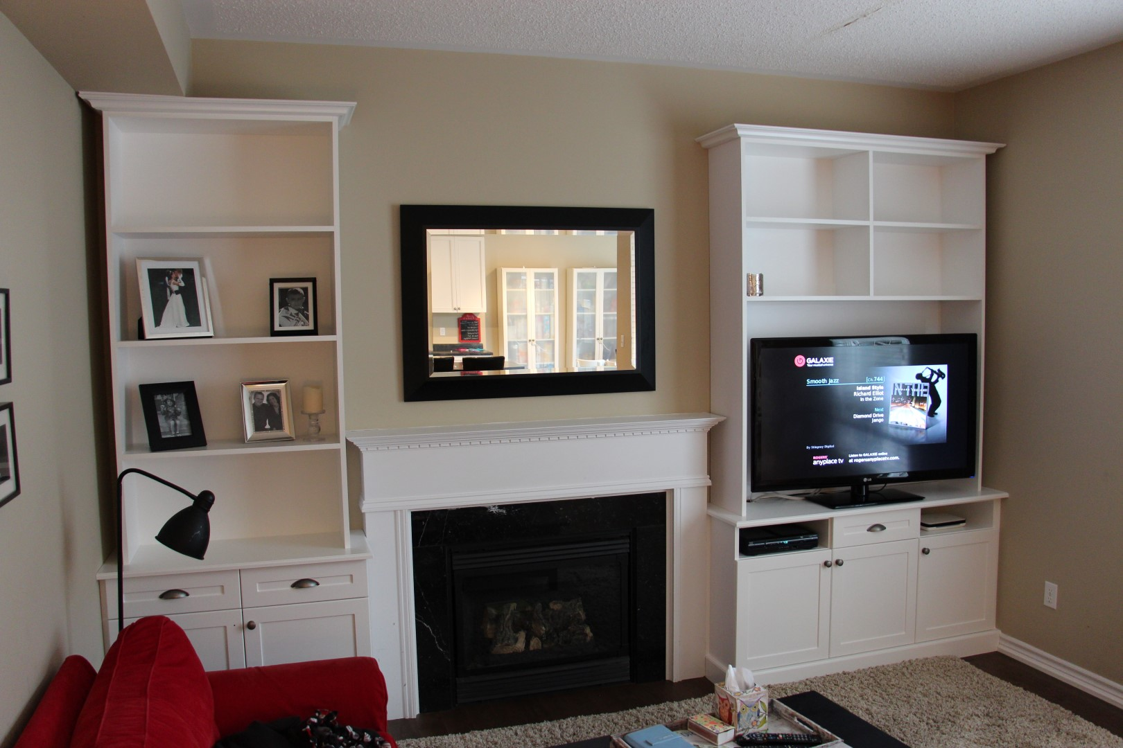 Fireplace Built In Shelves