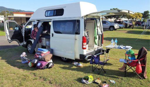 Campervan einräumen