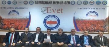 GÜMÜŞHANE MEMUR-SEN REFERANDUMDA 'EVET' DİYECEK