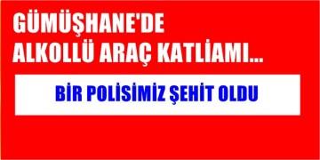 GÜMÜŞHANE'DE ALKOLLÜ TRAFİK KATLİAMI, BİR POLİSİMİZ ŞEHİT OLDU
