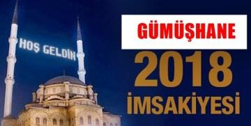 2018 GÜMÜŞHANE RAMAZAN İMSAKİYESİ