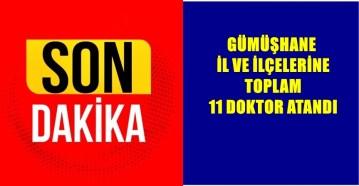 GÜMÜŞHANE'YE 11 DOKTOR ATAMASI YETERLİ DEĞİL
