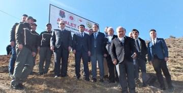 GÜMÜŞHANE'DE ADALET ORMANI'NA 600 SARI ÇAM FİDANI DİKİLDİ