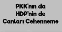 PKK'YI DA, HDP'Yİ DE, BUNLARIN DESTEKÇİLERİNİ DE ALLAH KAHRETSİN