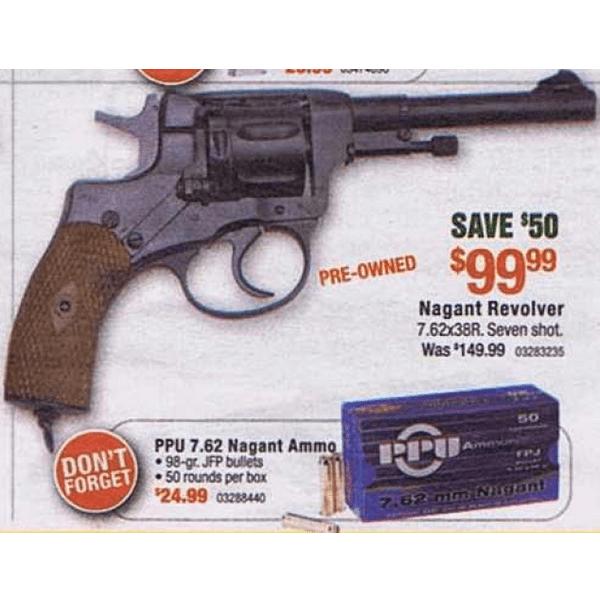pre owned nagant revolver