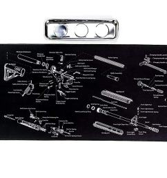ar15 gun cleaning mat with exploded parts diagram bonus magnetic parts tray boxed for gift giving 19 95 free s h over 25  [ 1500 x 839 Pixel ]
