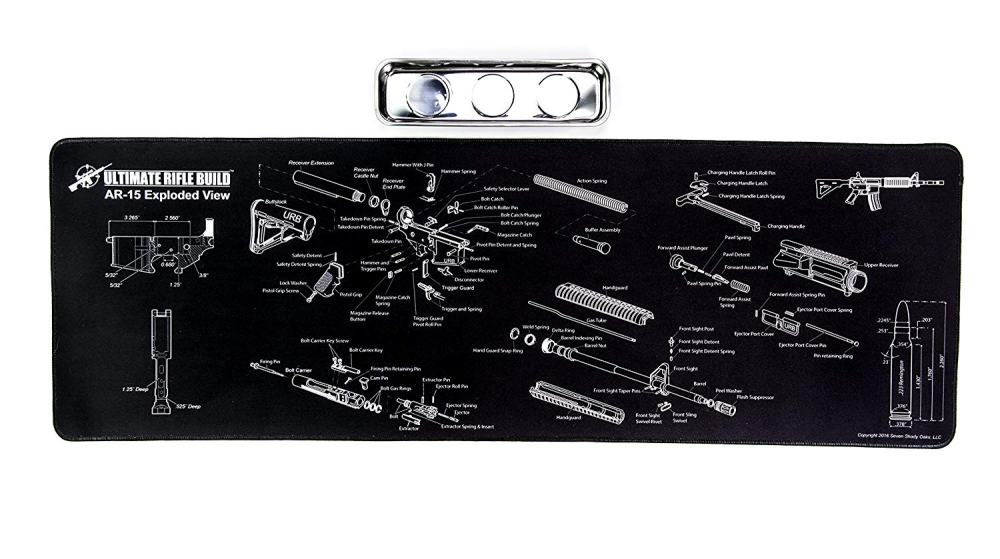 medium resolution of ar15 gun cleaning mat with exploded parts diagram bonus magnetic parts tray boxed for gift giving 19 95 free s h over 25