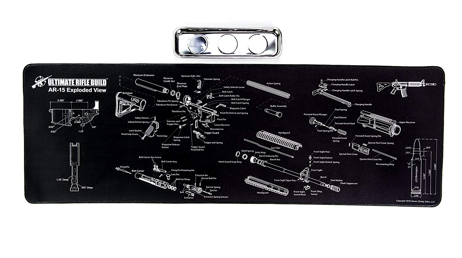 hight resolution of ar15 gun cleaning mat with exploded parts diagram bonus magnetic parts tray boxed for gift giving 19 95 free s h over 25