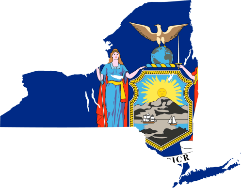 new york flag map