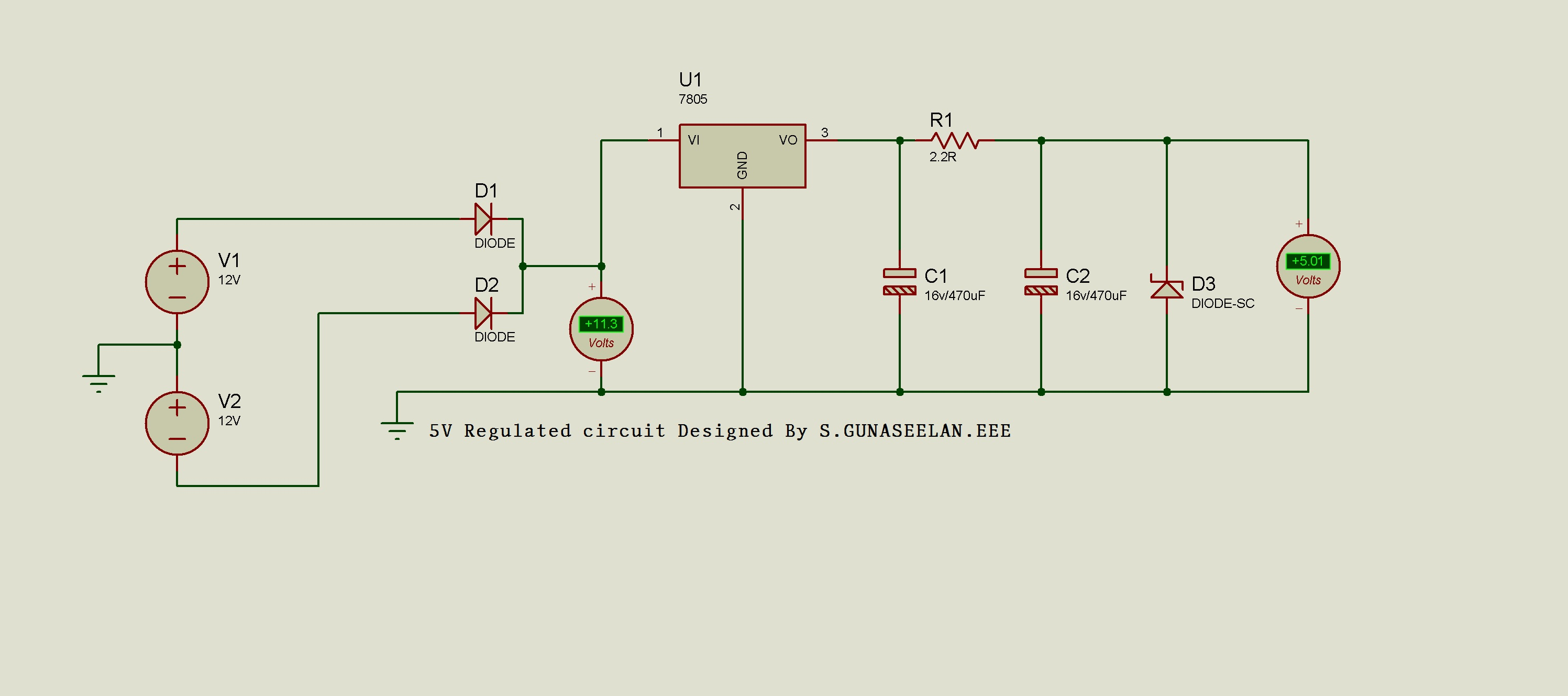 medium resolution of voltage regulator ic maintains the output voltage at a constant value 7805 ic avoltage regulator integrated circuit ic is a member of 78xx