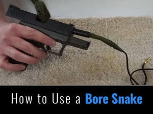 How to use a bore snake