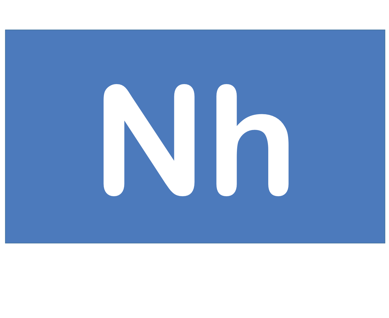 113 Nh ニホニウム Nihonium 元素 記号 周期表 化学 原子