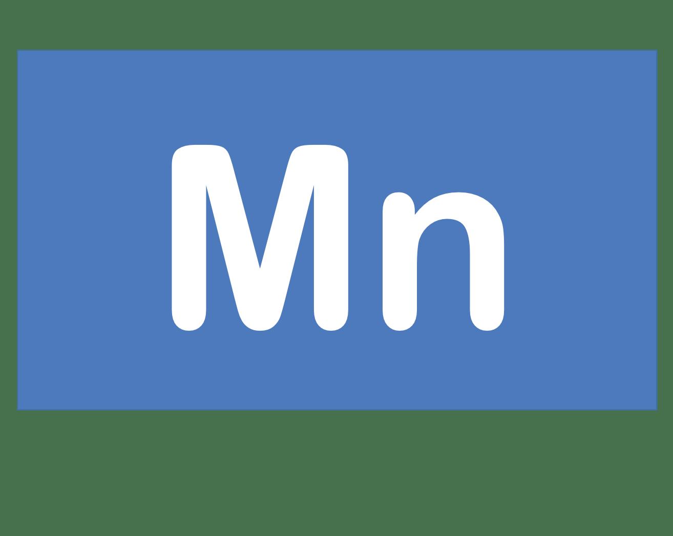 25 Mn マンガン Manganese 元素 記号 周期表 化学 原子