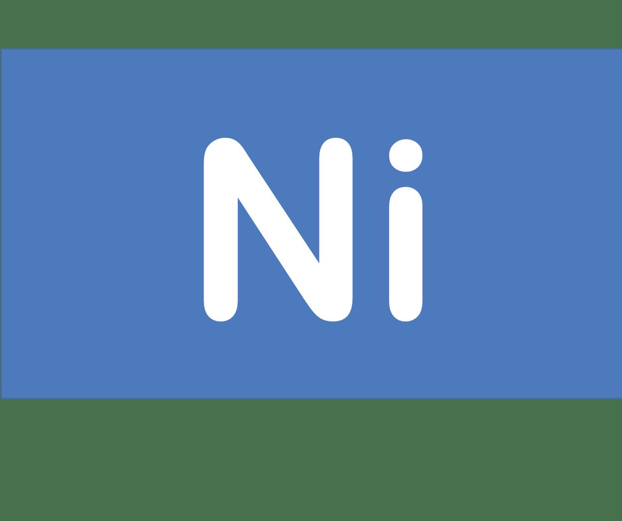 28 Ni ニッケル Nickel 元素 記号 周期表 化学 原子