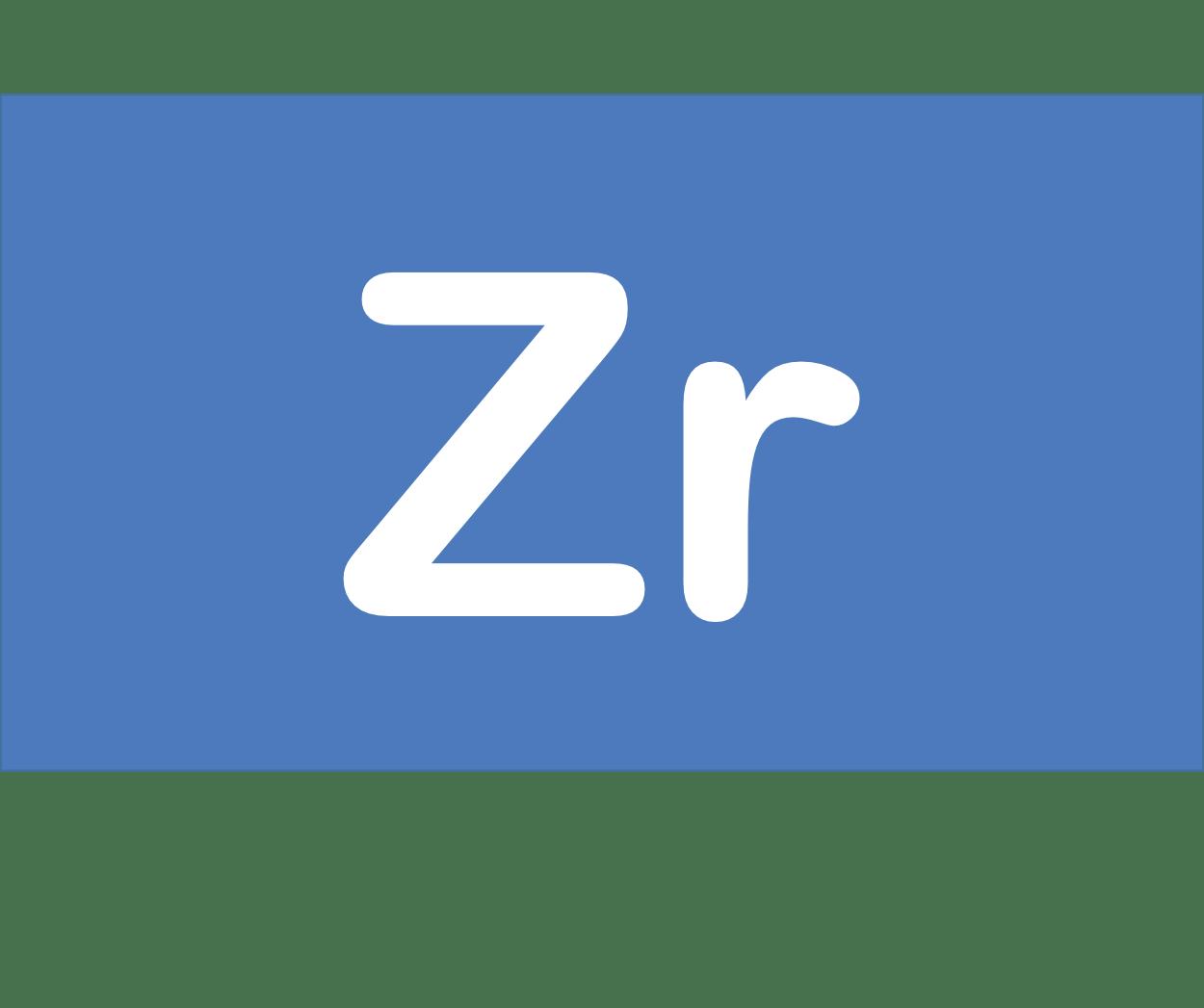 40 Zr ジルコニウム Zirconium 元素 記号 周期表 化学 原子