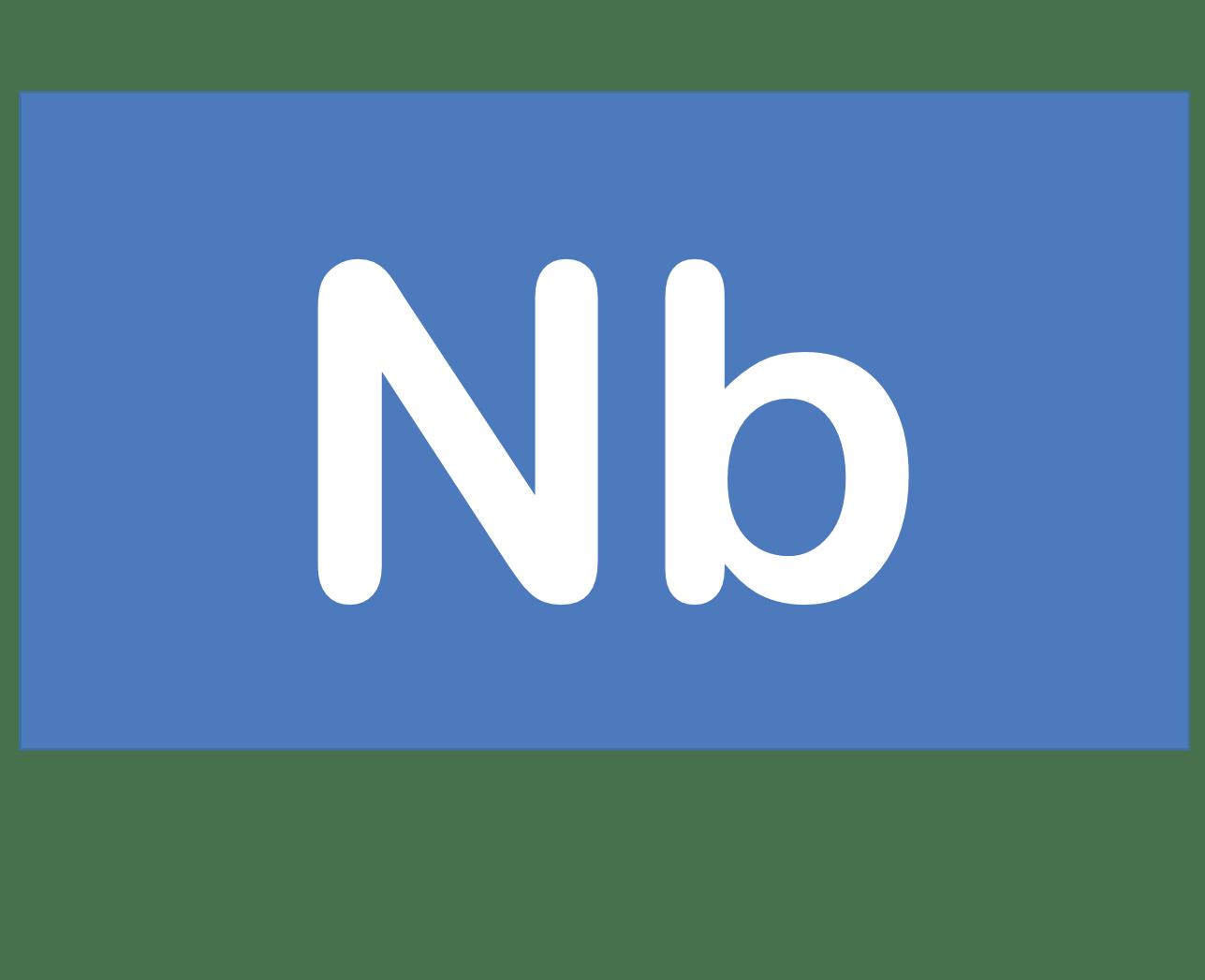 41 Nb ニオブ Niobium 元素 記号 周期表 化学 原子