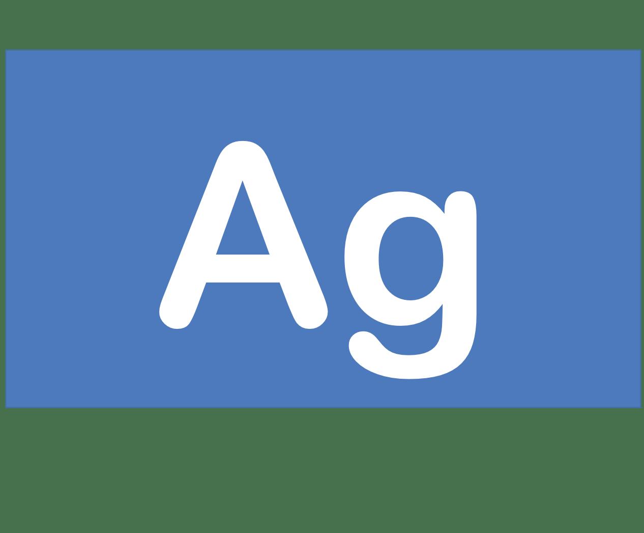 47 Ag 銀 Silver 元素 記号 周期表 化学 原子