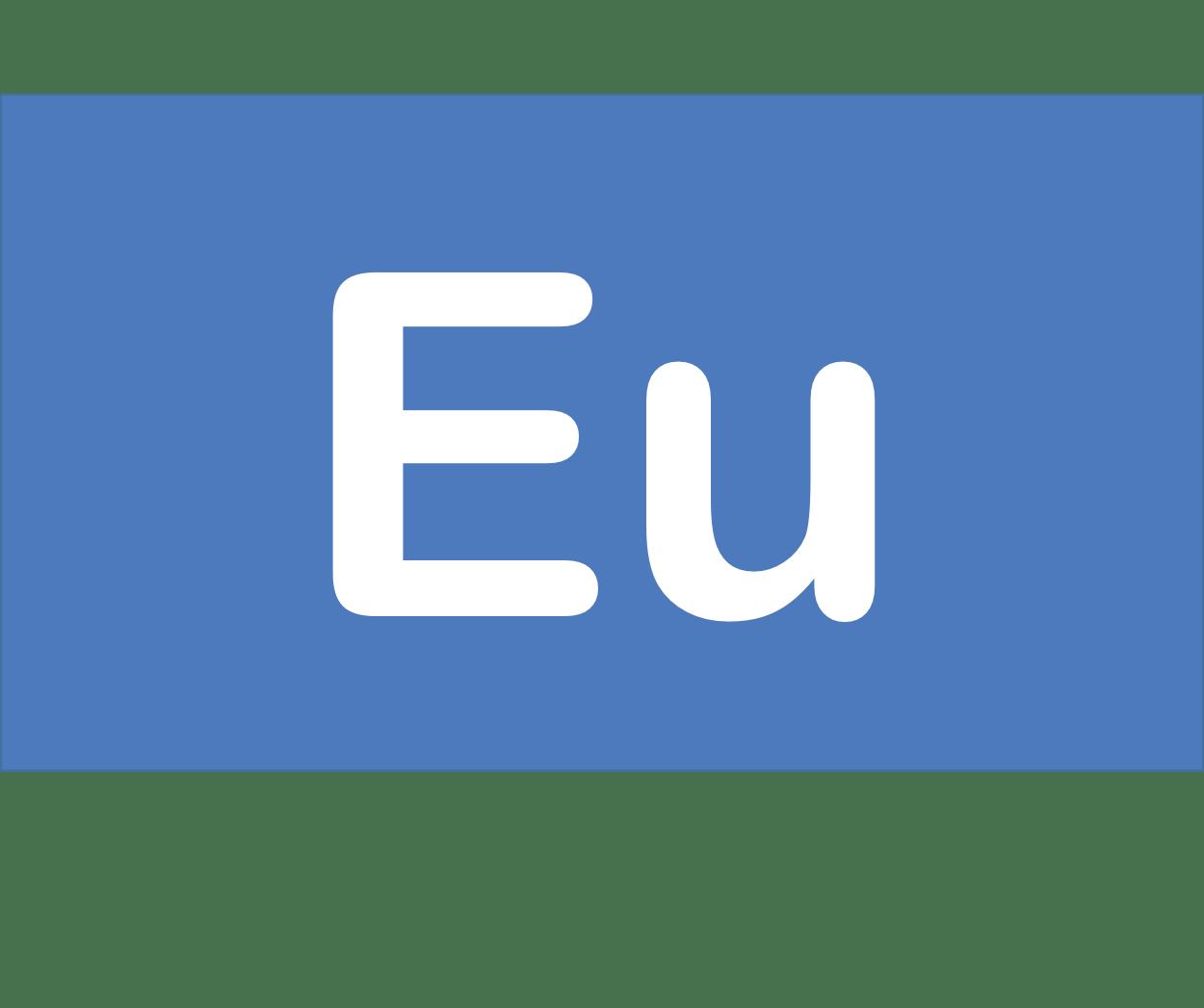 63 Eu ユウロピウム Europium 元素 記号 周期表 化学 原子