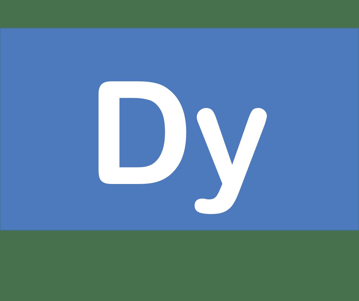66 Dy ジスプロシウム Dysprosium 元素 記号 周期表 化学 原子
