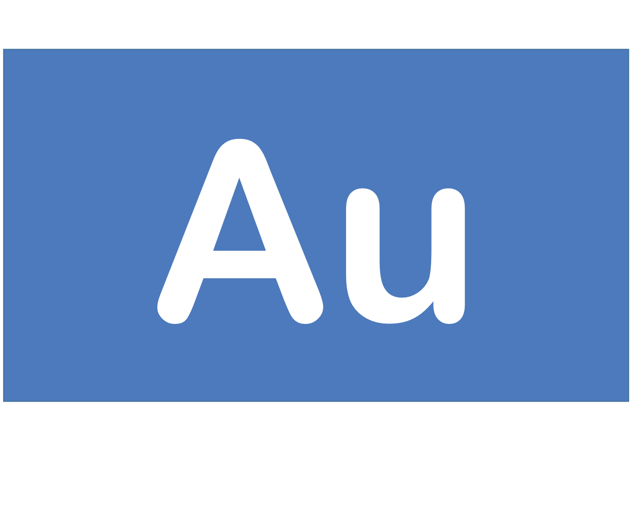 79 Au 金 Gold 元素 記号 周期表 化学 原子