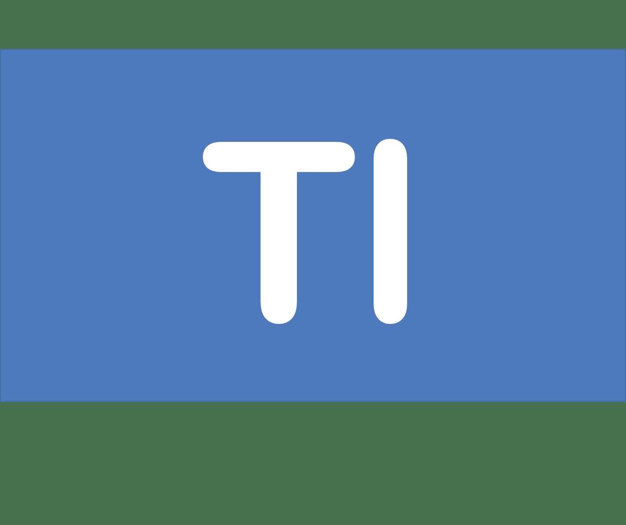 81 Tl タリウム Thallium 元素 記号 周期表 化学 原子