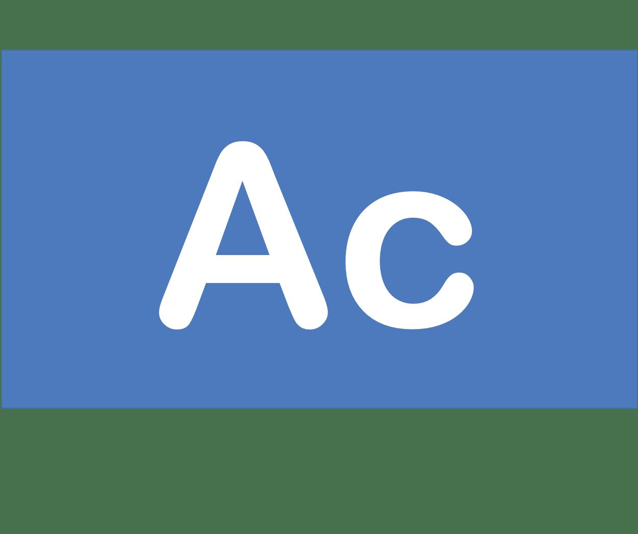 89 Ac アクチニウム Actinium 元素 記号 周期表 化学 原子