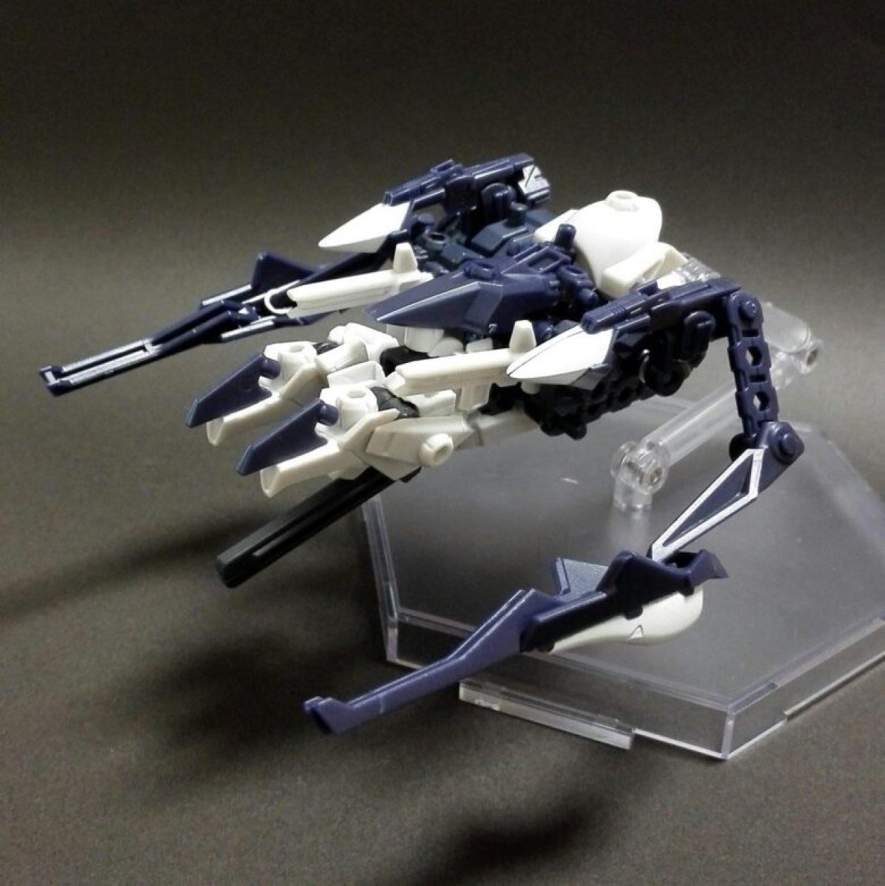 MOBILE SUIT ENSEMBLE 08弾のハイゼンスレイIIとフルドドIIと武器セットの組み合わせから作ったTR-6ハイゼンスレイII・ラーのMA(モビルアーマー)形態の画像