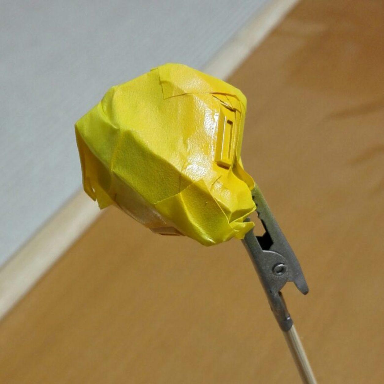 1/144スケールのガンプラのプリムローズの拡張パーツであるアドバンスド・ヘイズルのマルチ・コネクター・ポッドのディテールアップと制作画像