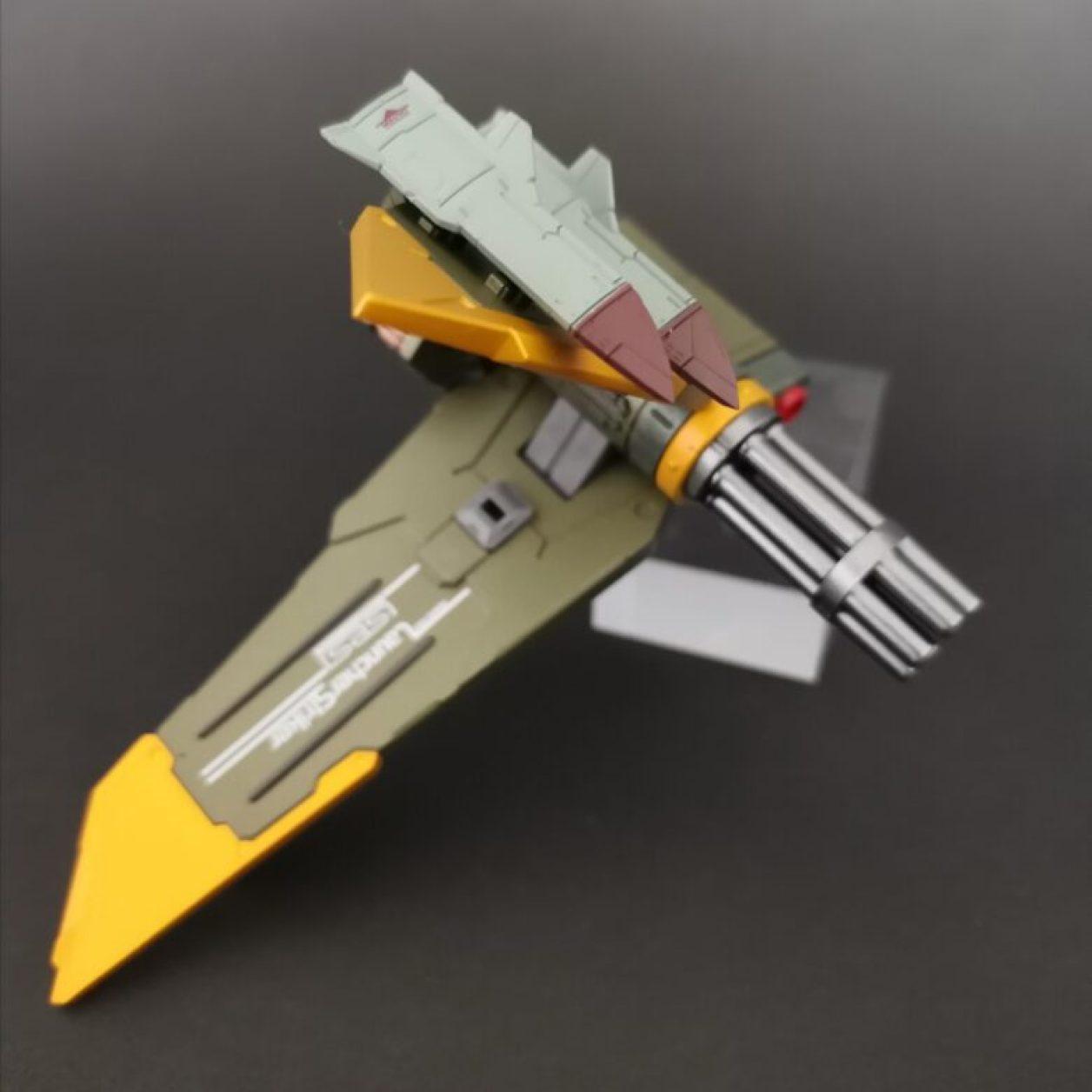 METALBUILD (メタルビルド)のランチャーストライカー付属品のコンボウェポンポッドにクルーザーミサイルをマウントした状態の画像