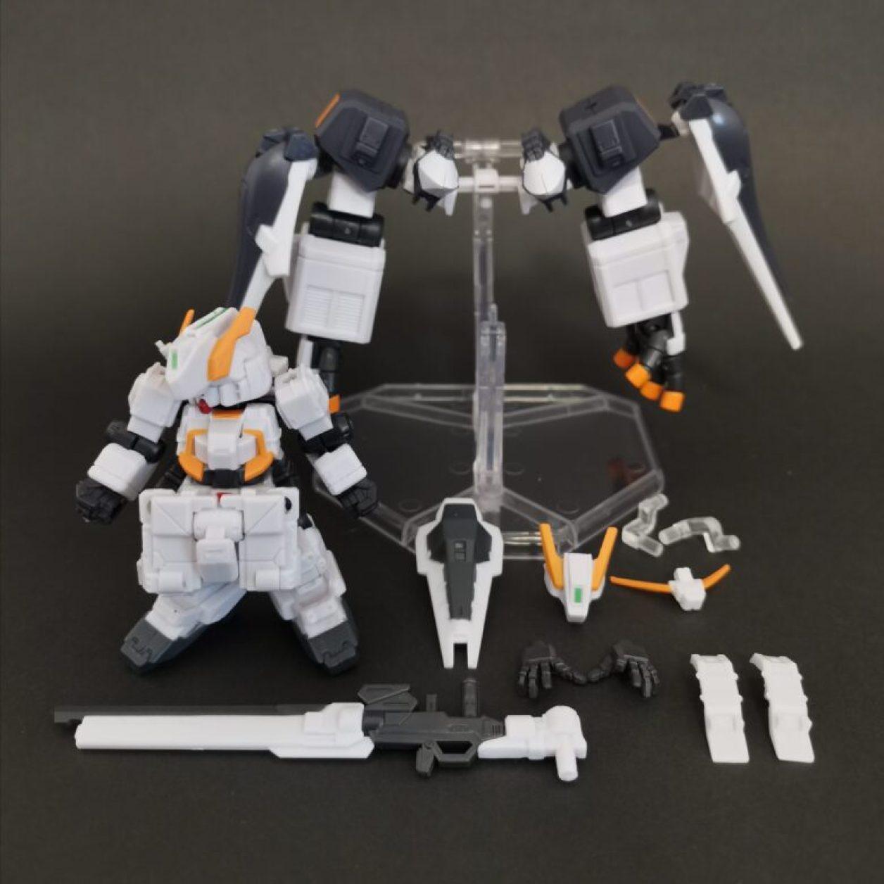 mobile suit ensemble (モビルスーツアンサンブル)ex23弾のガンダムtr-1[ヘイズル·アウスラ](ギガンティックアームユニット装備)セットの付属品の画像