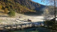 Rural back yard Autumn morning last week Aarbergsdalen ...