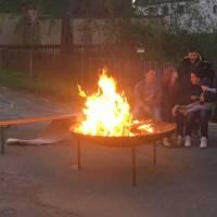 Feuerwehr feierte Abriss-Grillfest