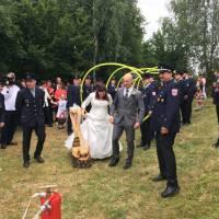 Spalier zur Hochzeit