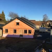 Baufortschritt des Gemeinschaftsbaus