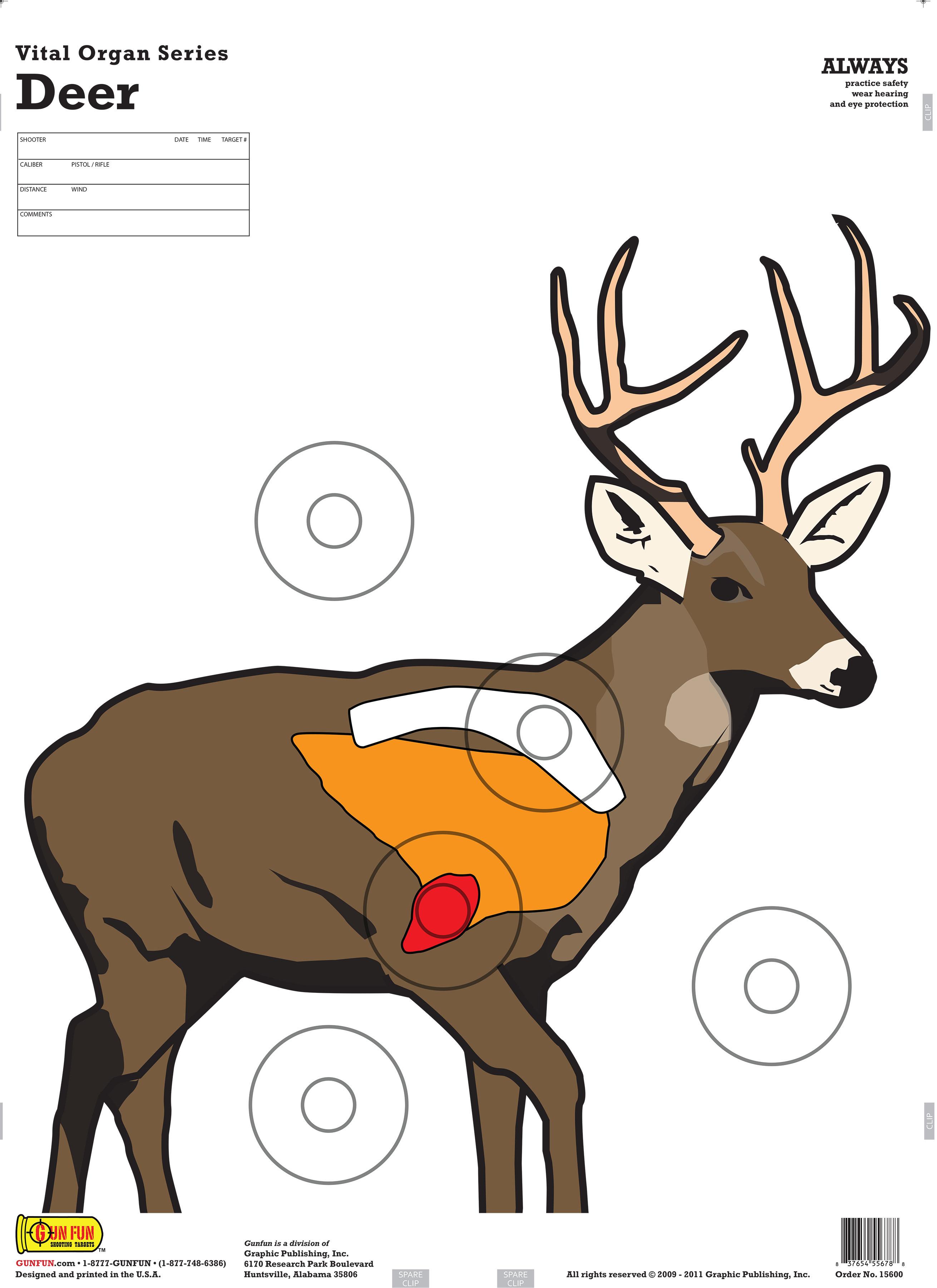 photograph about Deer Vitals Target Printable named Deer Vitals Concentration Printable - Yr of Contemporary H2o