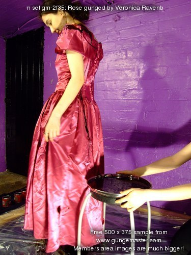 Rose gunged by Veronica Ravenblack  Lady Jasmines longlost cousin Rose is initiated into the