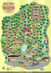 Infografis dari peta pemandian air panas Sari Ater