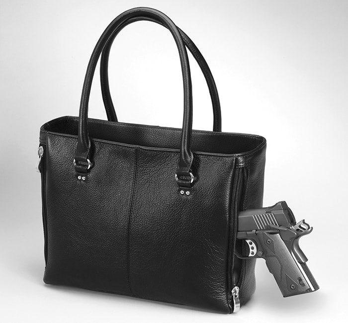 traditional tote leather conceal