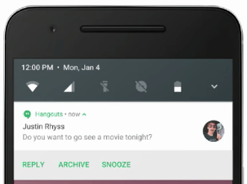 Direct reply in notification - android n