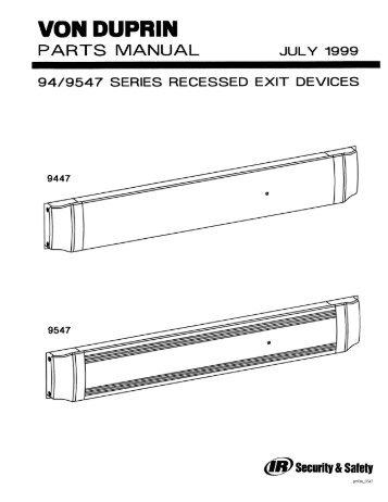 Von Duprin 99 Series Installation Instructions