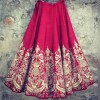 Designer Peach blouse with pink base raw silk lehenga 782 A